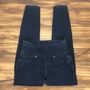 Spanx Alexia Jeans stretch side zip jegging size S
